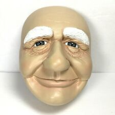 Smiling Old Man Face -Molded Plastic Detailed Features - Santa Doll