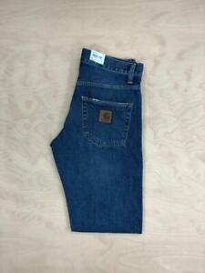 Carhartt Wip Klondike Regular tapered fit  Pant Blue Mid Worn Wash Jeans