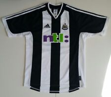Newcastle United soccer jersey 2001 #11 Gary Speed adidas striped ntl