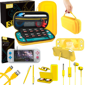 Switch Lite Essential Gaming Game Accessory Bundle Pack by Orzly in Yellow