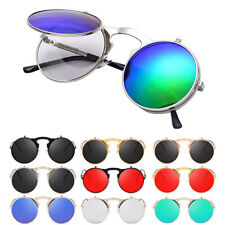 Flip Up Vintage Sunglasses 90's Round Retro Classic Glasses Designer Eyewear