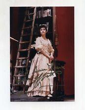 Fotografia autografo CANTANTE SOPRANO ? lirica photo signed contralto Foley?