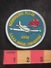 2002 MANGALORE FLY-IN SAAA ANNUAL CONVENTION Sport Aircraft Assoc. Patch O80P