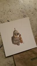 watercolor painting Cute Bender Robot Chibi Baby