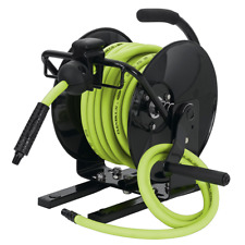 "Legacy Flexzilla Portable Open Face Manual Air Hose Reel, 3/8"" x 50'"