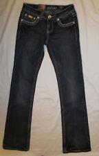 LA IDOL USA thick stitch Swarovski crystals embellished jeans 5 NWT ***