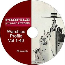 Profile Publications Warships Profiles Vol 1 to 40 - PDFs on DVD