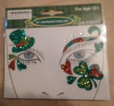 St. Patrick's Day Face Art-16 Count-Ages 12+-Instructions Are Included+