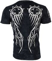 RAW STATE by AFFLICTION Mens T-Shirt REDEMPTION Wings Motorcycle Biker $40