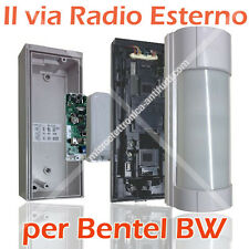 Optex VXI-R + BWMCN, Sensore Antifurto da esterno senza fili x Bentel BW 30 / 64