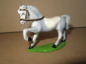 350P Made IN France Lead Painted Horse Grey to the / Of Not For Rider H 6,3 CM