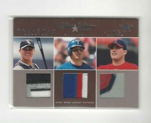 2004 Classic Clippings Magglio Ordonez/Hank Blalock/Troy Glaus PATCH /25