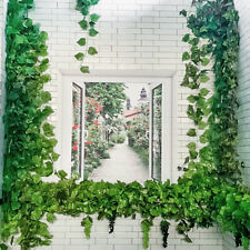 12X Artificial Hanging Plant 6.8Ft Silk Ivy Vine Garland Fake Home Garden Decor