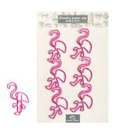 Cute creative pink flamingo paper clip set metal journal decoration stationery