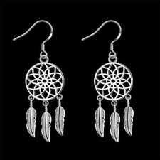 Fashion 925Sterling Solid Silver Jewelry Flower Dangle Earrings For Women E933