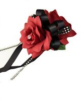 Pick ribbon color Apple Red rose wrist corsage Prom wedding homecoming