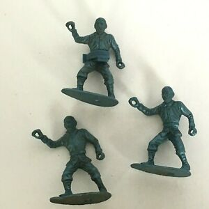 MPC Raised Ring Hand Civil War Union Toy Soldiers Lot 3 Plastic Vtg 1960s Beards
