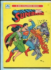 golden superman coloring book unused fine - Superman Coloring Book