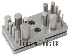 CERCHIO Gioielleria Disco Cutter 14 Fori Set Punch metallo strumento punzonatura 3-misura 16 mm