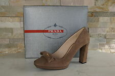 luxus Prada Gr 38,5 Pumps Halbschuhe Shoes Schuhe nerz mink  neu UVP 340€