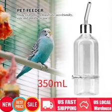 Bird Feeder/Waterer Automatic Seed Water Feeder Parakeet Parrot w/Ball Nipple