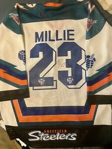 Sheffield Steelers 1994/95 Home Shirt,#23 Les Millie, Size Large Mens,Signed