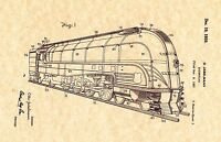 Patent Print - Locomotive 1939 - Railroad. Ready To Be Framed!