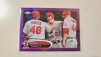 2012 Topps Chrome Purple Refractor Mike Trout #144 2nd year card **CORNER DING**