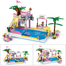 Mini Kids Water Park Pool Slide Have Fun Building Block Bricks Puzzle Toys 18pcs