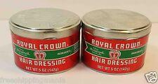ROYAL CROWN HAIR DRESSING POMADE 2 LOT  (5 OZ x 2)