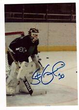 STEVE GUENETTE SIGNED PHOTO NHL GOALIE AUTOGRAPH PENGUINS FLAMES 1986-91 AHL IHL