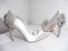 """Dune """"Be Wedd"""" Pale Ivory Satin Diamante & Pearl Bridal Shoes New Size 7 £250"""