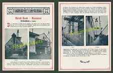 orig. Foto-Reklame Brauerei Beck Rothenburg Tauber Bier Arbeiter Handwerk 1906!!