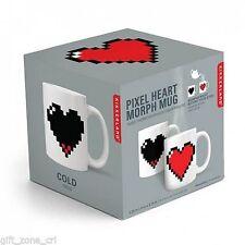 Manta Pixel Heart Morph Mug Retro Heat Changing Sensitive Tea & Coffee Cup-Kikke