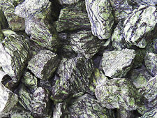 2 lb SERPENTINITE Tumbling Rough Rock Stones tumbler green dragon serpentine