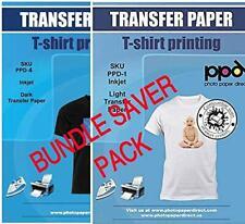 Ppd Inkjet Iron On Bundle Of T Shirt Transfer Paper 85x11 Of Light X10 Sheets
