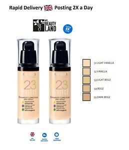 Bourjois 123 Perfect Medium Coverage Liquid Foundation, Sealed - Choose