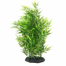 Green Bamboo Leaves Shaped Decorative Artificial Grass For Aquarium