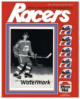 WHA 1978 - 79 Wayne Gretzky Indianapolis Racers Game Program Cover 8 X 10 Photo