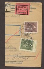 BOHEMIA & MORAVIA 1942 FOUR SPECIAL DELIVERY EXPRESS PARCEL POST RECEIPTS