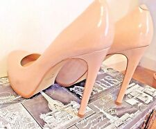 Kelsi Dagger Heels Nude Patent Leather Stiletto Platform Size 8.5