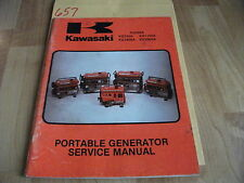 Kawasaki KG550 KG750A KG1100A KG1600A KG2900A Portable Generator Service Manual