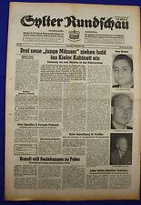 """SYLTER RUNDSCHAU 27.10.1969: Drei neue """"junge Männer"""" im Kieler Kabinett"""