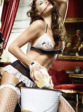 Cameriera sexy travestimento cameriera Sexy + AUTOREGGENTI E PIUMINO hot