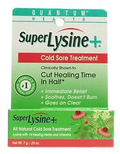 Quantum Super Lysine Plus Cold Sore Treatment Cream - 0.25 Oz
