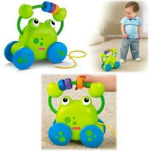 Fisher-Price Growing Baby Pull Along Froggie Developmental Toy New