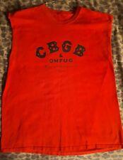 CBGB's - Vintage Red sleeveless shirt, Extra Large (XL)