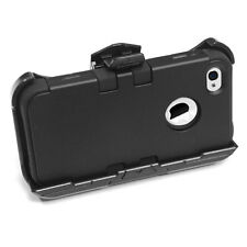 iPhone 4 4S - Black High Impact Armor Hard&Soft Rubber Case + Holster Belt Clip