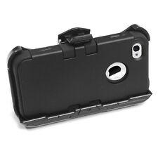 iPhone 4 4S - Black High Impact Armor Hard&Soft Rubber Case + Holster Belt Clip