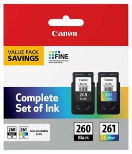 Canon PG260 CL261 Black Color Ink 260 261 TS5320 3725C006 TS5320 TS6420 TR7020